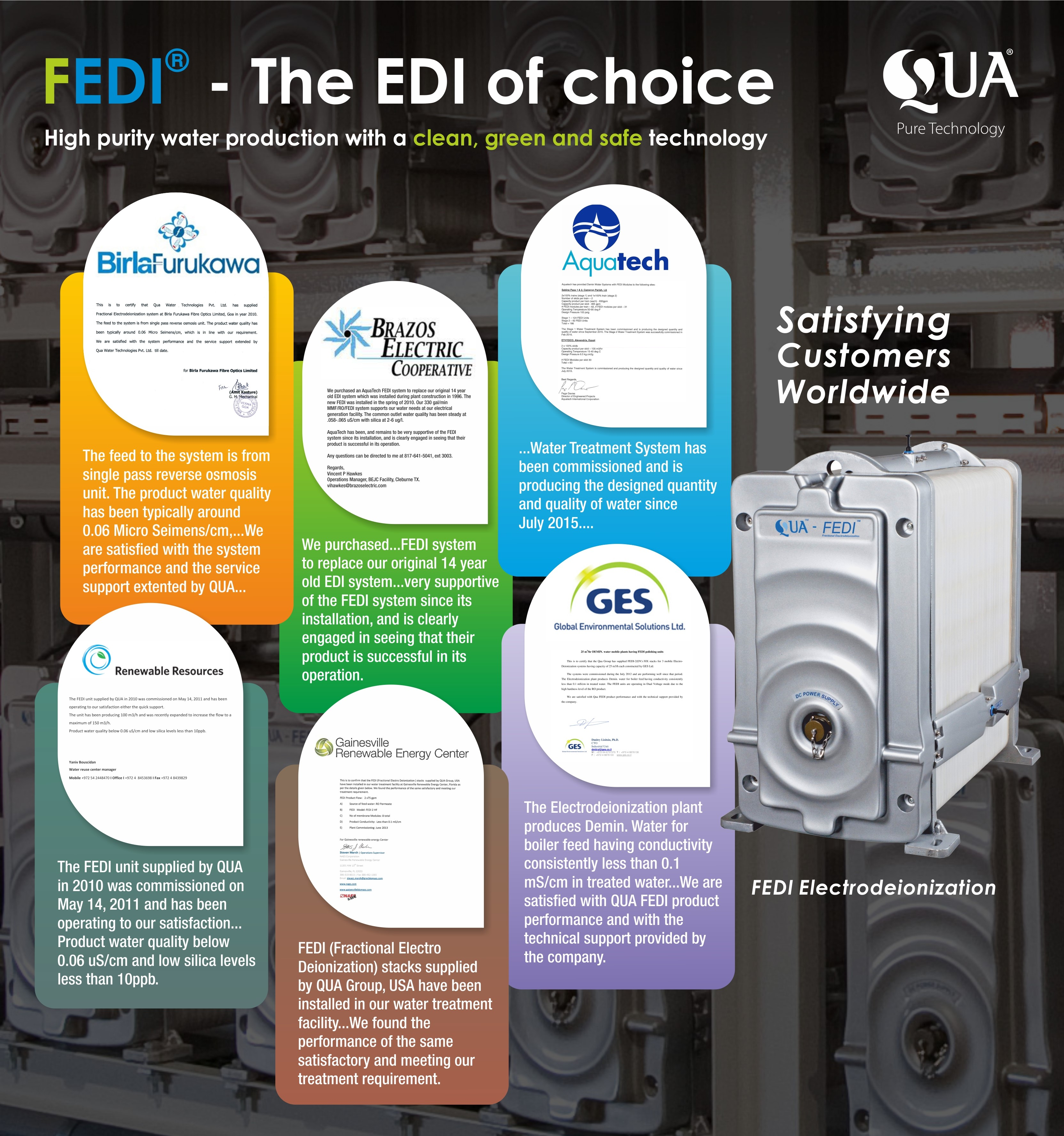 What FEDI's Customers Are Saying