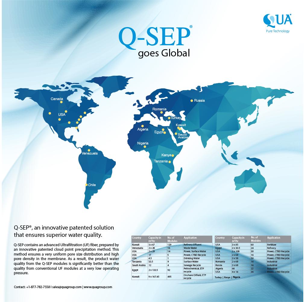 QUA's QSEP UF Membranes Go Global